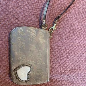 Gold coach coin purse